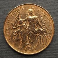moeda francesa antiga foto