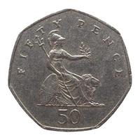 Moeda de 50 pence, reino unido foto