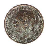 velha lira italiana com vittorio emanuele iii rei isolado isolat foto