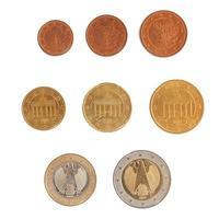 série de moedas de euro foto