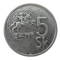 moeda sueca vintage isolada foto