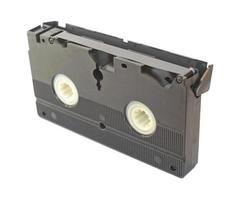 cassete de fita de vídeo isolada foto