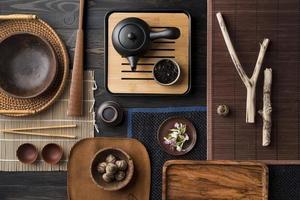 vista de cima variedade criativa de feng shui foto