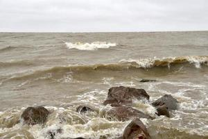 tempestade cair no lago winnipeg foto