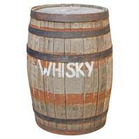 barril de madeira isolado foto