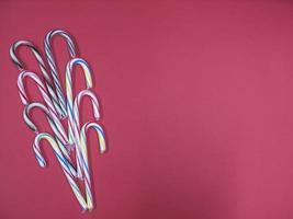 conjunto de tiras lilás azul cana-de-caramelo colorido foto