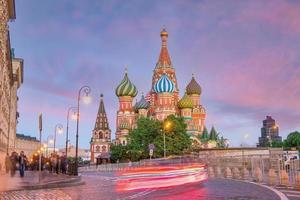 Catedral de São Basílio na Praça Vermelha de Moscou, Rússia foto