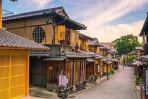 cafeteria starbucks na cidade velha de kyoto foto