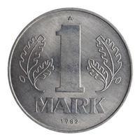 moeda de uma marca isolada foto