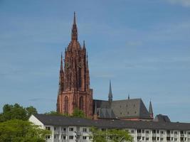 Catedral de São Bartolomeu em Frankfurt foto