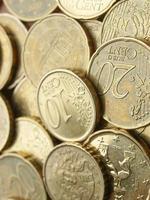 fundo de moedas de euro foto