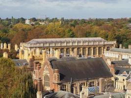 vista aérea de Cambridge foto