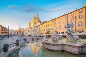piazza navona em roma, itália foto
