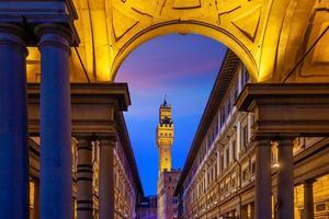 palazzo vecchio no centro de florença, cidade na toscana itália foto
