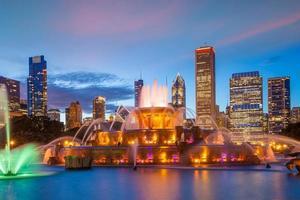 Chicago City Downtown Skyline dos EUA foto