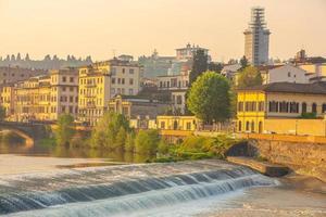 cidade de florença, centro da cidade, horizonte da cidade da itália foto