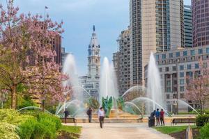 paisagem urbana do centro da cidade da Filadélfia, na Pensilvânia foto