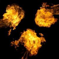 diferentes chamas de fogo definidas foto