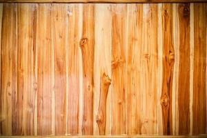fundo de textura de parede de prancha de madeira marrom foto