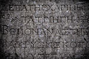 símbolos históricos assinam alfabetos do antigo Egito foto