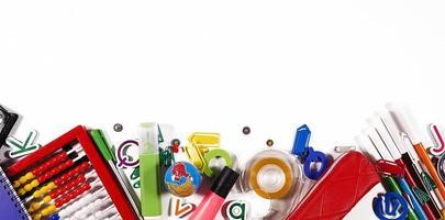 escola e ferramentas de escritório foto