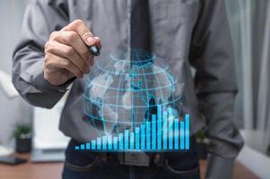 gráfico de ações empresário gráfico crescimento foto
