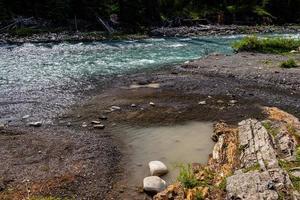 Rio das ovelhas em alberta, canadá foto