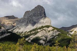 vistas das montanhas rochosas do parque em alberta, canadá foto