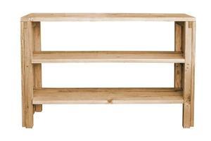 prateleira de madeira vazia. foto