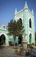 São Miguel - marco da igreja em estilo colonial português na cidade de macau, china foto