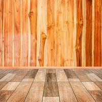 fundo interior de madeira de chão e parede foto