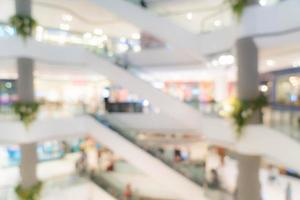 borrão abstrato lindo shopping center de luxo foto