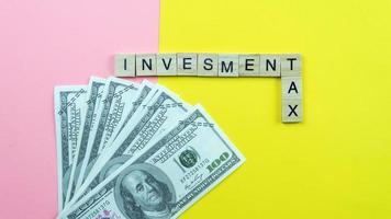 conceito de imposto de investimento foto