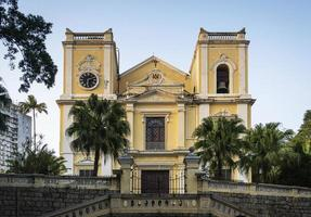 st. antiga igreja católica de lawrence, patrimônio colonial, marco na china de macau foto