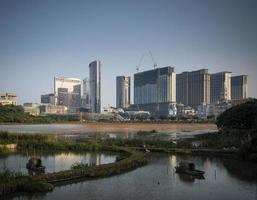 Cotai strip casino resorts vista do horizonte de taipa em macau china foto