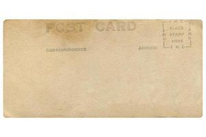 antigo cartão postal em branco foto