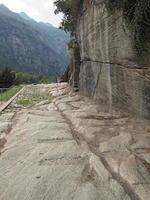 antiga estrada romana em donnas foto