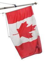 bandeira canadense isolada foto