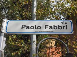 via placa de rua paolo fabbri foto