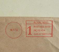 medidor de postagem no envelope foto