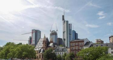 vista de frankfurt, alemanha foto