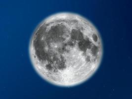 lua cheia vista com telescópio foto