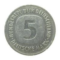 moeda alemã vintage isolada foto