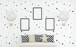 maquete de quarto infantil, a4, maquete de quadro - 05 foto
