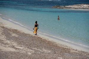 praia de es pujols em formentera no verão de 2021 foto