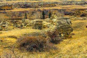 temporada de outono no deserto do sul em Alberta, Canadá foto