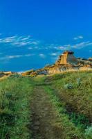 Parque provincial de dinossauros badlands alberta canadá foto