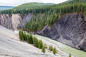 o rio ram corre pelo lado da montanha foto