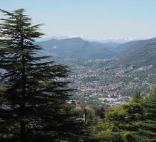 vista aérea de como, itália foto
