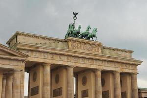 Brandenburger Tor Brandenburg Gate em Berlim foto
